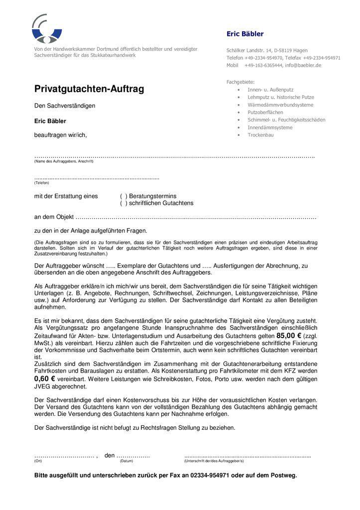 thumbnail of Privatgutachten-Auftragsvordruck